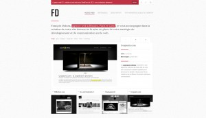 Angular responsive WordPress theme - Francoisdubois.fr